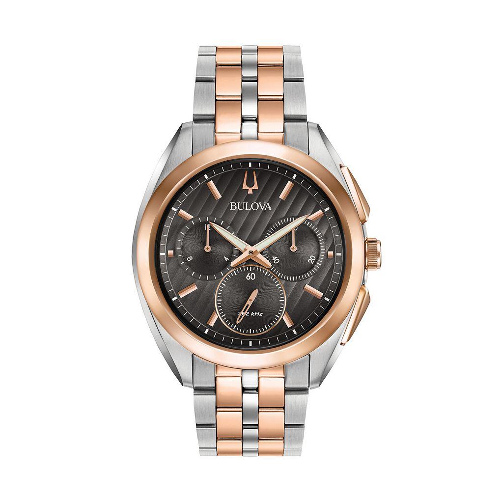 Bulova Men's CURV Stainless Steel Chronograph Watch