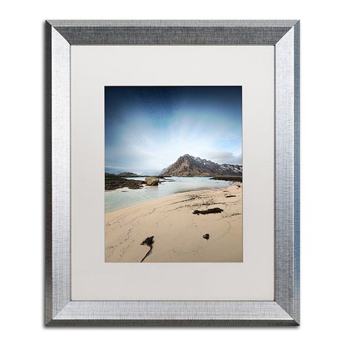 "Trademark Fine Art ""The Little Things"" Silver Finish Framed Wall Art"