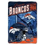 Denver Broncos Stagger Microfleece Oversized Throw by Northwest
