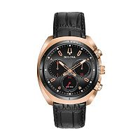 Bulova Men's CURV Leather Chronograph Watch - 98A156