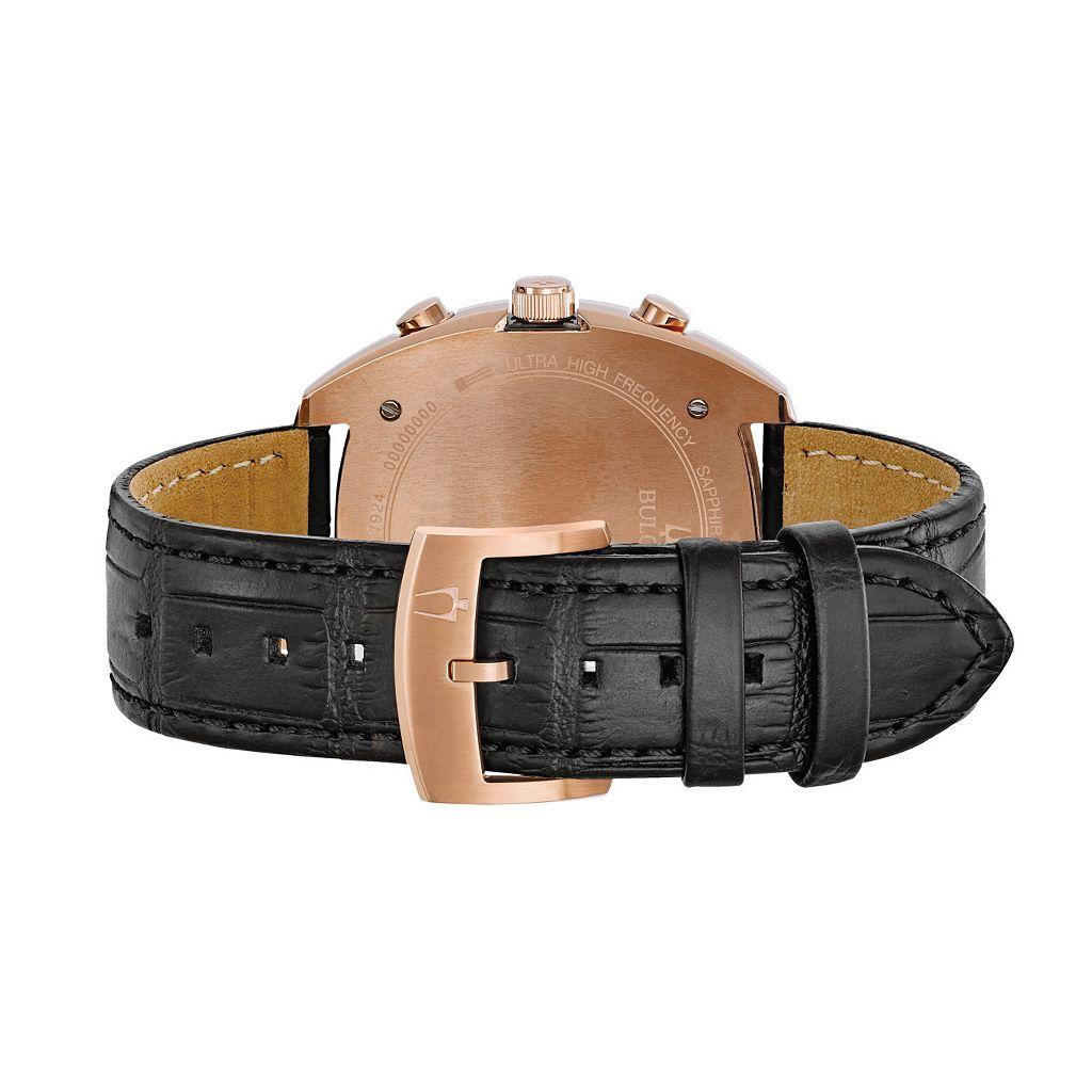 Bulova Men's CURV Leather Chronograph Watch - 98A156