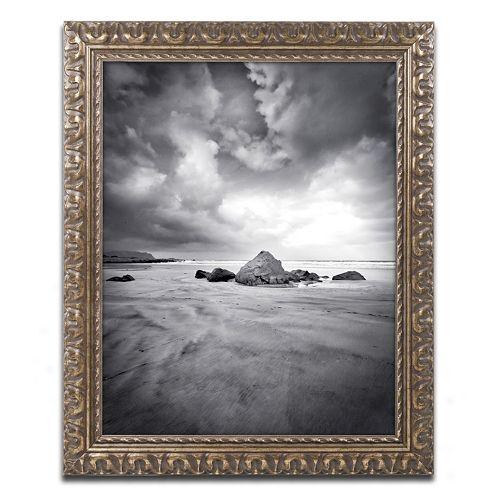 Trademark Fine Art World In Change Ornate Framed Wall Art