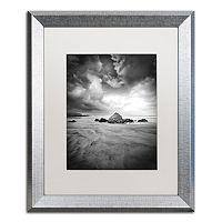 Trademark Fine Art World In Change Silver Finish Framed Wall Art