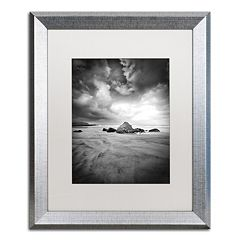 Trademark Fine Art World In Change Silver Finish Framed Wall Art