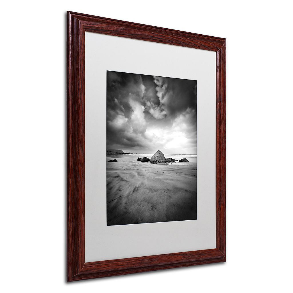 Trademark Fine Art World In Change Dark Finish Framed Wall Art