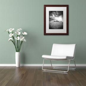 Trademark Fine Art World In Change Dark Finish Framed Wall Art