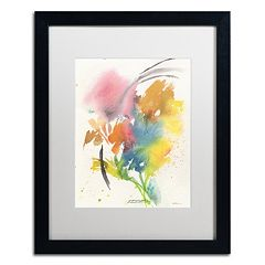 Trademark Fine Art Rainbow Bouquet Framed Wall Art