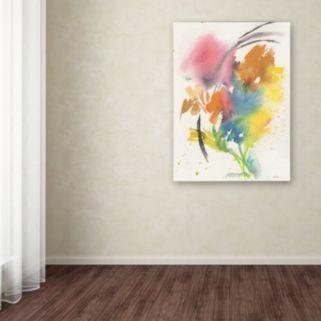 Trademark Fine Art Rainbow Bouquet Canvas Wall Art