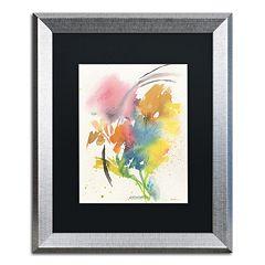Trademark Fine Art Rainbow Bouquet Silver Finish Framed Wall Art