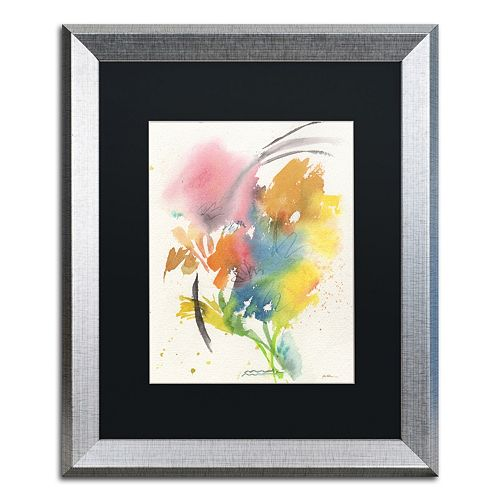 Trademark Fine Art Rainbow Bouquet Silver Finish Framed Wall Art