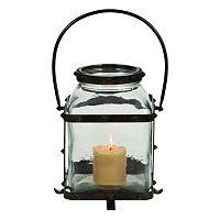 Iron Jar Style Glass Candle Lantern