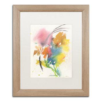 Trademark Fine Art Rainbow Bouquet Light Finish Framed Wall Art