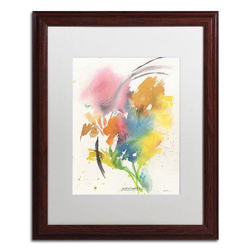 Trademark Fine Art Rainbow Bouquet Dark Finish Framed Wall Art