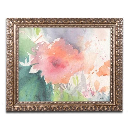 Trademark Fine Art Coral Blossom Ornate Framed Wall Art
