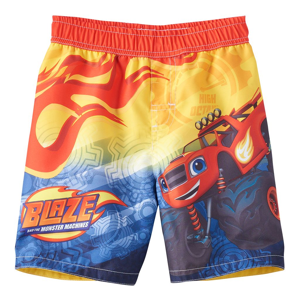 Toddler Boy Blaze and the Monster Machines Blaze Swim Trunks