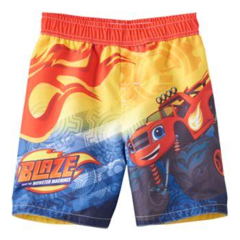 Toddler Boy Blaze and the Monster Machines Blaze Swim Trunks