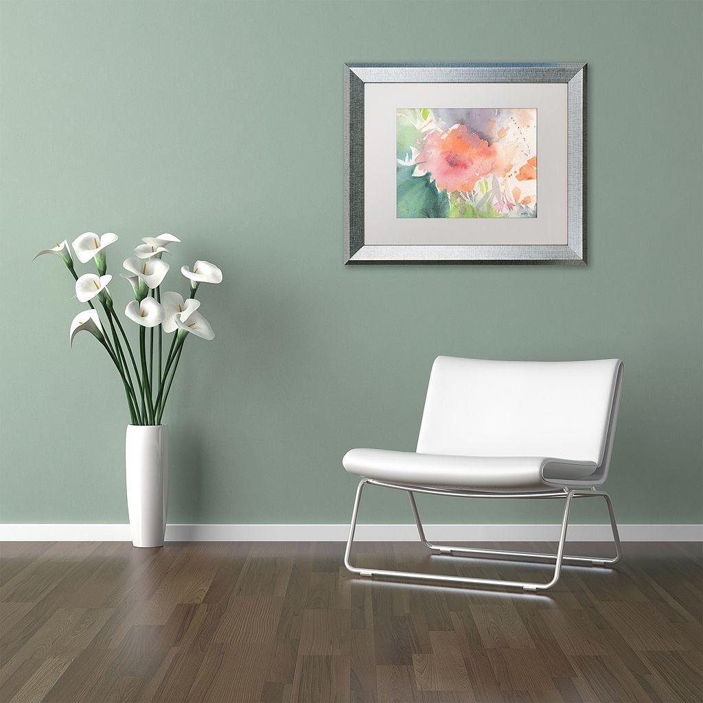 Trademark Fine Art Coral Blossom Silver Finish Framed Wall Art