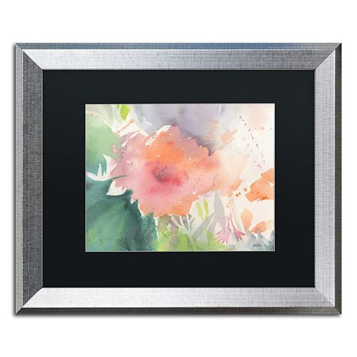 Trademark Fine Art Coral Blossom Silver Finish Framed Wall Art