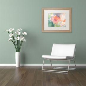 Trademark Fine Art Coral Blossom Light Finish Framed Wall Art