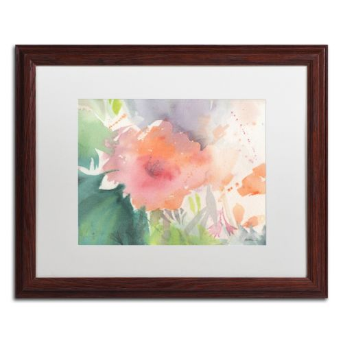Trademark Fine Art Coral Blossom Dark Finish Framed Wall Art