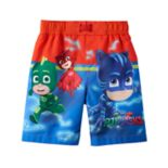 Toddler Boy PJ Masks Catboy, Owlette & Gekko Swim Trunks