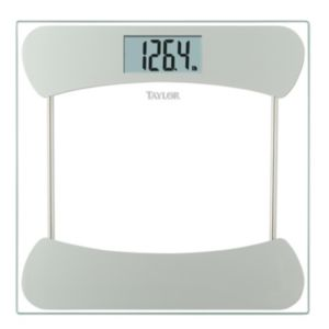 Taylor Silver-Tone Accented Glass Digital Scale