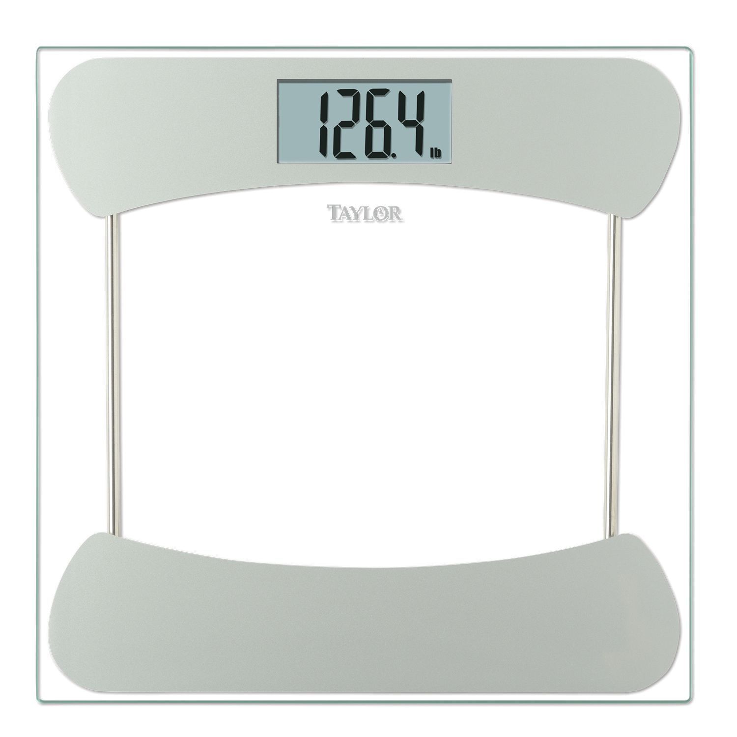 Taylor Silver Tone Accented Glass Digital Scale