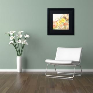 Trademark Fine Art Yellow Path Framed Wall Art