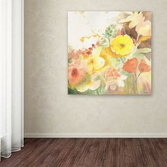 Trademark Fine Art Yellow Path Canvas Wall Art