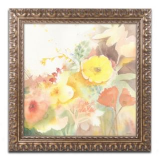 Trademark Fine Art Yellow Path Ornate Framed Wall Art
