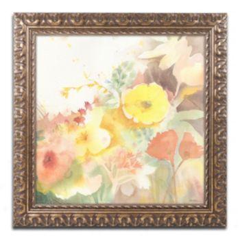 Trademark Fine Art Yellow Path Ornate Framed Wall Art