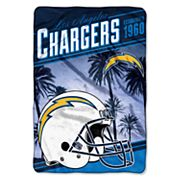 San Diego Chargers Stagger Microfleece Oversized Throw by Northwest