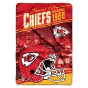 Kansas City Chiefs Stagger Microfleece Oversized Throw by Northwest