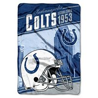 Indianapolis Colts Stagger Microfleece Oversized Throw by Northwest