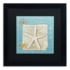 Trademark Fine Art Points North Starfish Framed Wall Art