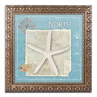 Trademark Fine Art Points North Starfish Ornate Framed Wall Art