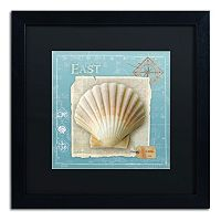Trademark Fine Art Points East Seashell Framed Wall Art