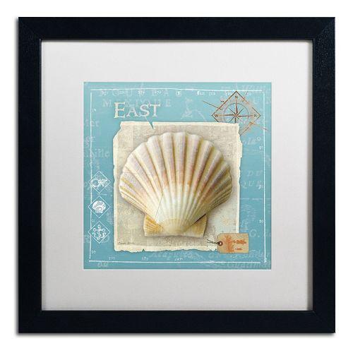 Trademark Fine Art Points East Seashell Framed Wall Art