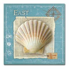 Trademark Fine Art Points East Seashell Canvas Wall Art