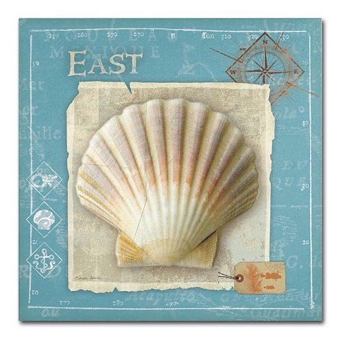 Trademark Fine Art Points East Seashell Canvas Wall Art