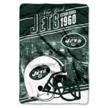 New York Jets Stagger Microfleece Oversized Throw by Northwest