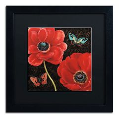 Trademark Fine Art 'Petals and Wings II' Black Framed Wall Art