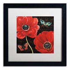 Trademark Fine Art 'Petals and Wings II' Black Framed Wall Art