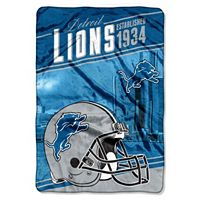 Detroit Lions Stagger Microfleece Oversized Throw by Northwest