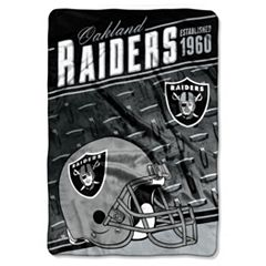 Oakland Raiders Stagger Microfleece Oversized Throw by Northwest