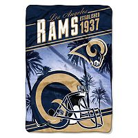 Los Angeles Rams Stagger Microfleece Oversized Throw by Northwest
