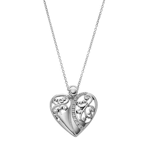 Sentimental Expressions Sterling Silver Cubic Zirconia Angel of Love Necklace