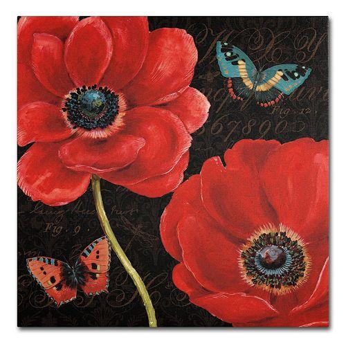 "Trademark Fine Art ""Petals and Wings II"" Canvas Wall Art"
