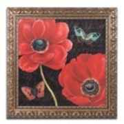 "Trademark Fine Art ""Petals and Wings II"" Ornate Framed Wall Art"
