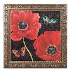 Trademark Fine Art 'Petals and Wings II' Ornate Framed Wall Art